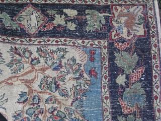 "Bidjar carpet Kurdish garden carpet design. Finelly woven, interesting layout of  a garden and country side. Very good pile.Circa 1900 47"" x 76.7"" - 120 cm x 195 cm."