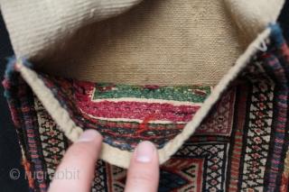 """Shahsavan saddlebag. Size: 9"""" x 25.5""""- 23 cm x 65 cm."""