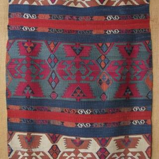 """Kurdish kilim from Central Anatolia. Size: 31"""" x 114"""" - 80 cm x 290 cm."""