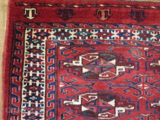 """Turkmen Yomud chuval. No Repairs, good colors and condition. Size: 29"""" x 44"""" - 73 cm x 111 cm."""