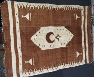 """East Anatolian Siirt Rug. Some condition issues as pictured.  Size: 51.1"""" x 78.7"""" - 130 cm x 200 cm"""