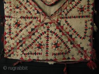 "Turkmen felt bokhce. Size: 29.5"" x 29.5"" - 75cm x 75cm."