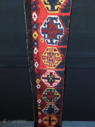 """Central Asia Upper Amu Darya tribal Yurt floor spread """"So called Arabic name """"Julkur"""". Fine wool pile with natural colors. Circa 1900s. light red has not faded even if looks not on  ..."""