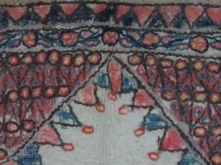 "Turkmen Yomud felt Saddle cover. Natural colors Circa 1920 Size : 33"" X 38"""
