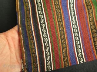 "Silk jajim small size double bag. Very good condition. Size: 8.6"" x 24.8"" - 22 cm x 63 cm."
