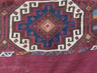"Anatolian sumak chuval. Size: 73 cm x 118 cm - 2.4"" x 3.9"""