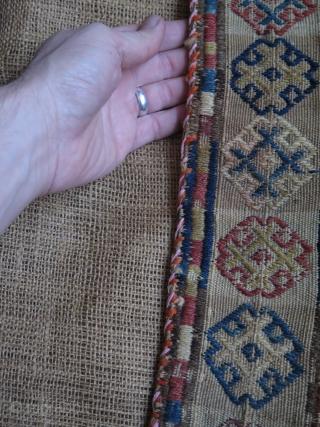 "Shahsevan scissors bag. Size: 4.7"" x 20"" - 12 cm x 51 cm."