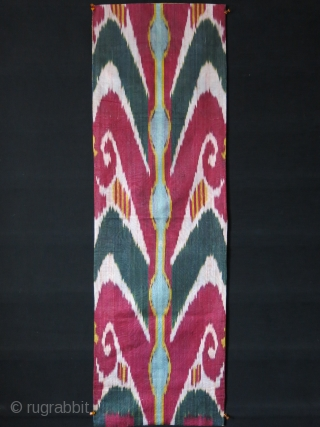 "Uzbekistan - Adras Ikat panel fragment - circa 1900 or earlier - Size : 45"" X 14"" - 114 cm X 36 cm"