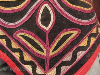 """Kyrgyzstan silk embroidery hanging. Size: 13"""" x 82"""" - 33 cm x 208 cm."""
