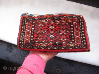 "Turkmen mini chanteh. Size: 5.5"" x 9.8"" - 14 cm x 25 cm."