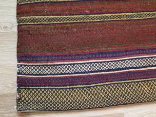 "Qashkai torba. Sumak weave. Size: 21"" x 24"" - 53 cm x 61 cm."