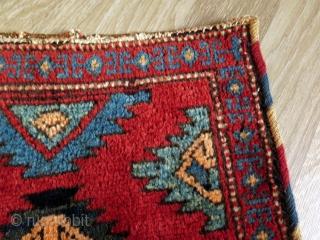 "Bakhtiari torba. Circa 1900 or earlier. Size: 17"" x 12.5"" - 44 cm x 32 cm."