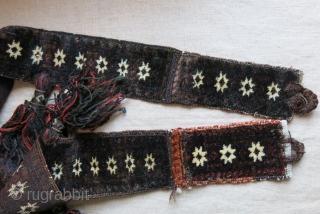 "Afghanistan - baluch tribal Animal trapping. all extreme angora like wool and goat hair loops, full pile condition with great tassels. Circa 1900 -1920. Size : 66"" long - over 4"" wide  ..."