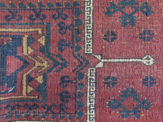 "Turkmen Ersary torba, all wool natural colors and full pile. close up images show real colors. Circa 1900 - size : 60"" X 17"" - 152 cm X 43 cm"