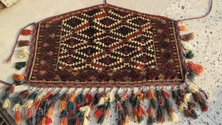 "Turkmen Yomud Asmalyk with saturated colors and great condition. Size: 26"" x 42"" - 66cm x 108cm."