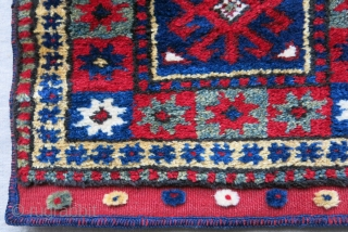 """Western Anatolia - Bergama original bag with full pile and saturated natural colors. Size: 15"""" X 15"""" - 38 cm X 38 cm"""