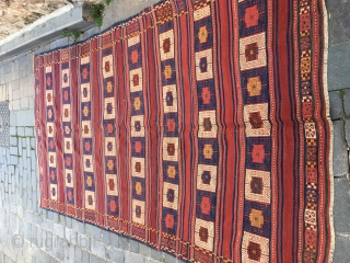 West Anatolian Bergama area Kilim.Perfect condition and all naturel colors.