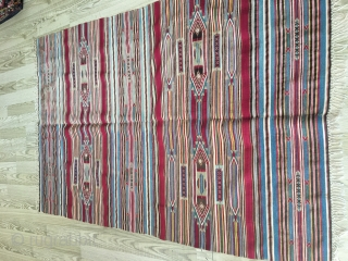 Syrian Kilim with silver thread size 135x200cm