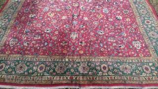 Persian Tabriz Carpet circa 1930 Size 380 cm 278 cm