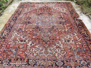 Antique Persiyan Heris Carpet