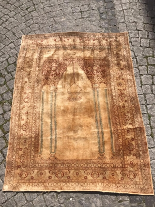 19th century TABRIZ SILK 165x125 For More Information Whatsapp +61-415-799-757