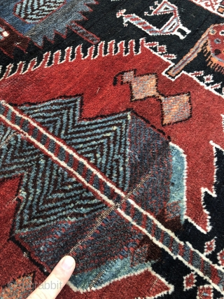 Estate find: Antique Southpersian Luri tribal rug, age: 19th century, size: 290x160cm / 9'5''ft x 5'3''ft, condition as found