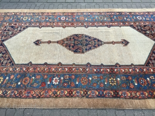 Antique Persian Hamedan carpet with a beautiful camel ground color, very decorative, good condition. Size: ca. 365x210cm / 12ft x 6'9''ft