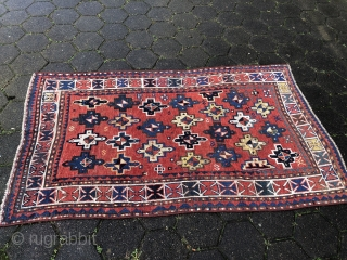 A lovely antique Caucasian rug from the 19th century, size: ca. 180x120cm / 6ft x 4ft