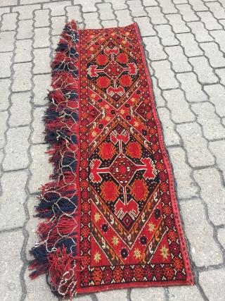 Antique Turkmen Ersari Torba, size: ca. 135x35cm / 4'4''ft x 1'1''ft , age: circa 1900