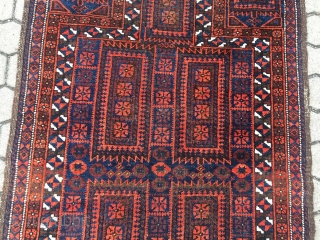 Antique Baluch prayer rug, size : ca 150cm x 87cm / 5'ft x 2'9''ft