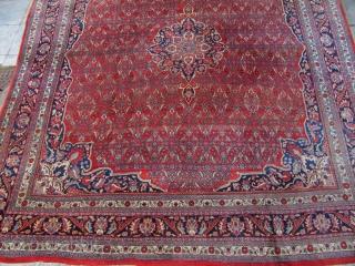Antique squarish Bidjar carpet , origin : Persia . Decorative carpet , good quality . Age : circa 1920 . Size : ca 360cm x 320cm ( 11´9 x 10´5 )