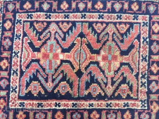 a lovely antique Kurdish bagface, 19th century, size: 55x40cm / 1'8''ft x 1'3''ft , very nice collector´s piece.