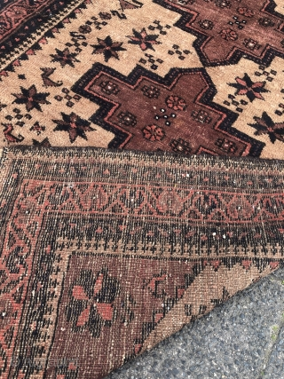 Lovely antique Ferdows Baluch rug with animals, size: 150x95cm / 5ft x 3'1''ft Very nice collector´s piece.
