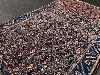 Antique Persian Malayer rug, size: ca. 240x160cm / 7'9''ft x 5'3''ft