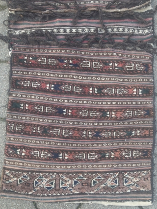 Antique doublebag or so called Khorjin, Baluch? Veramin area?? Not sure about the origin. 125x53cm / 4'1''ft x 1'7''ft