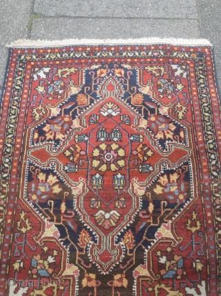 Lovely small antique Persian Malayer poshti, size: ca. 75x60cm / 2'5''ft x 2ft