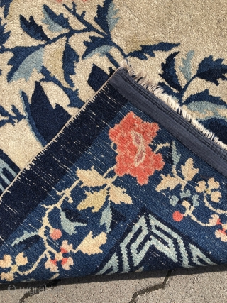 A lovely small antique Chinese Pao Tao rug, good condition. Size: 150x95cm / 5ft x 3'1''ft Would make a great wall hanging