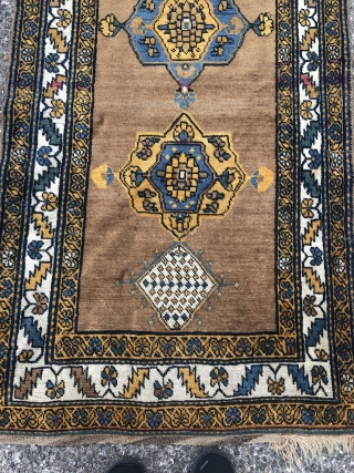 Antique Northwest Persian (Kurdish?) runner, 19th century, beautiful camel ground color. Size: ca. 350x100cm / 11'5ft x 3'3ft