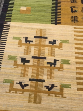 A very decorative Polish (?) kilim, size: ca. 290x205cm / 9'5''ft x 6'7''ft , age: circa 1920-1930