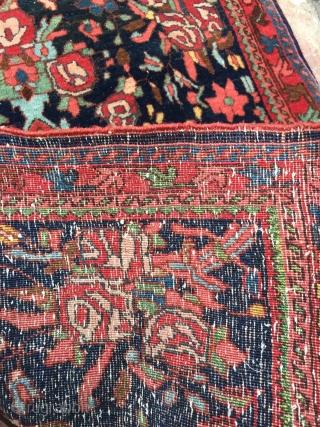 Fine antique Persian Bidjar Poshti. Age: circa 1900. size: ca 75x63cm / 2'5'' x 2'1''ft
