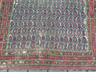 Estate find: fine antique Persian Malayer rug, size: 185x135cm / 6'1''ft x 4'5''ft , some wear but still a nice thing