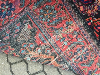 Fine antique Persian Lilian rug, very decorative, good condition, size: ca. 335x175cm / 11ft x 5'8''ft