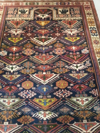 ref: s2165 / kuba Akstafa Prayer, Caucasian antique rug, 19th century, perfect condition size : 190 X 140 SOLD