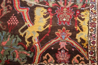 "Antique Persian Bidjar Sampler Rug 49097, size: 2'7"" x 4', Country of Origin / Rug Type: Persian Rugs, Circa Date: Late 19th Century -  Unlike many traditional Persian rugs, this beauty is  ..."