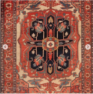 All these magnificent antique Persian Heriz / Serapi rugs are part of our October 15 auction. If you want a breathtaking piece, at a fraction of the retail price, this is one  ...
