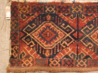 Turkmen, ersari torba, 14 by 38 inches,mid-19thC.
