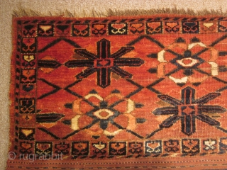 Turkmen, beshir torba, 17 by 55 inches,late 19thC