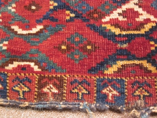 Turkmen, Ersari chuval, 32 by 56inches, mid-19thC. A significant piece.