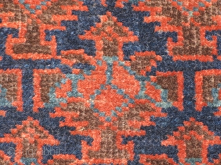 19th Century Belouch Baluch bagface with great color and good condition. Unusual Dohtor e Ghazi field design. Another killer rug from Nomad Rugs, San Francisco. Check it out here and thanks for  ...