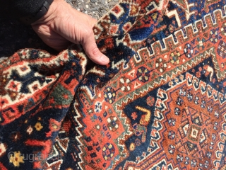"""Khamseh Runner - 116"""" x 40"""" Excellent condition. Very good pile. No stains or repairs. Solid, natural color."""